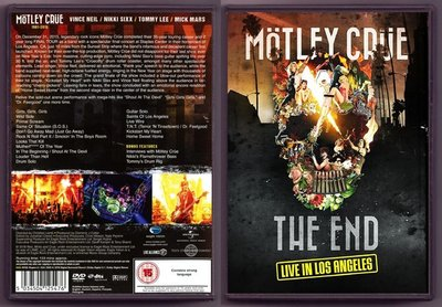 音樂居士#Motley Crue - The End - Live in Los Angeles 2016 () DVD