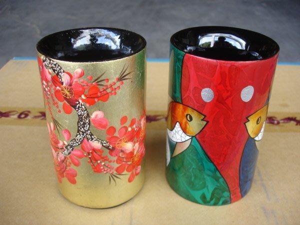 小o結緣館仿古傢俱............圓形筆筒 漆器花瓶 擺飾瓶(漆器) (單件)