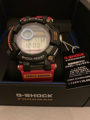 全新日本版,G-Shock GWF-D1000ARR-1jr  南極調查ROV 限量版