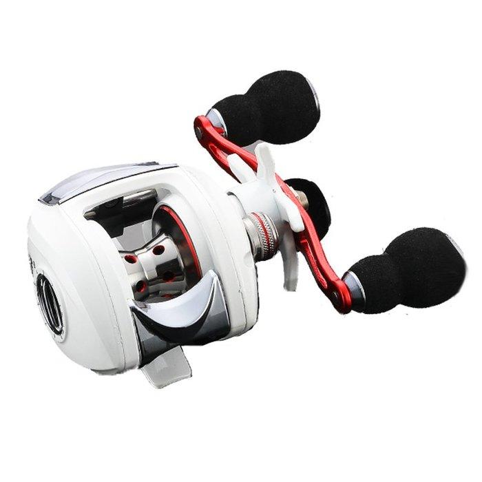 超值新手 防炸線18軸 微物 路亞輪小烏龜 雙軸捲線器白色 高質感 高品質