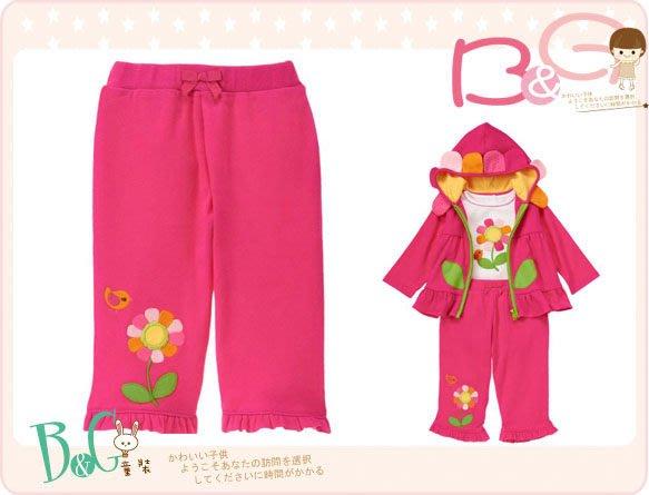 【B& G童裝】正品美國進口GYMBOREE Flower Ruffle Pant 向日葵圖樣荷葉邊長褲6-12mos