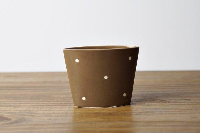 [偶拾小巷] 日本製 KAI 咖啡色陶瓷飯匙架