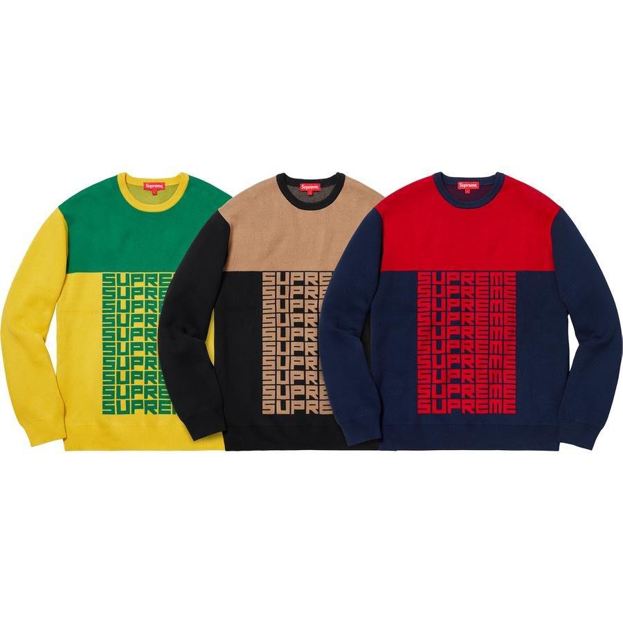 【紐約范特西】預購 Supreme FW18 Logo Repeat Sweater 毛衣 3色