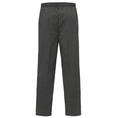 廚師褲子條紋斑馬 松緊褲腰 酒店餐廳飯店食堂廚師透氣工作褲