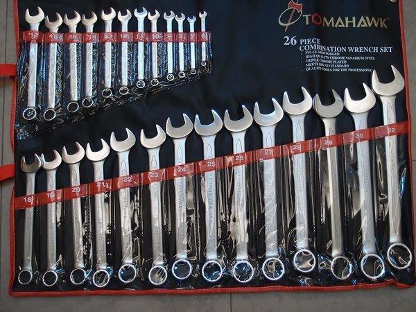 【ToolBox】英制歐式薄型/梅開扳手/單件組~台製-Tomahawk-☆(〞~1〞)☆~~整組可拆賣
