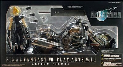 日本正版壽屋 PLAY ARTS FINAL FANTASY VII 克勞德 Hardy Daytona 公仔 日本代購