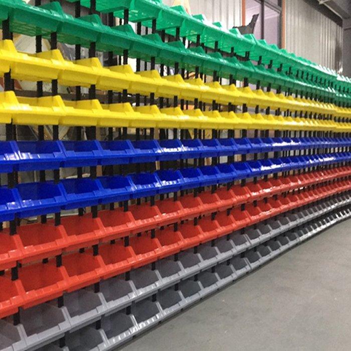 SX千貨鋪-五金工具货架斜口分类螺丝物料收纳配件塑料盒子储物零件盒组合式#綠色環保 #組合牢固 #超強承重