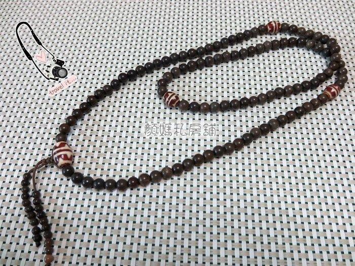 顏媽私房舖㊣悅康㊣招財納福108顆墨玉髓唸珠 收藏價15800元
