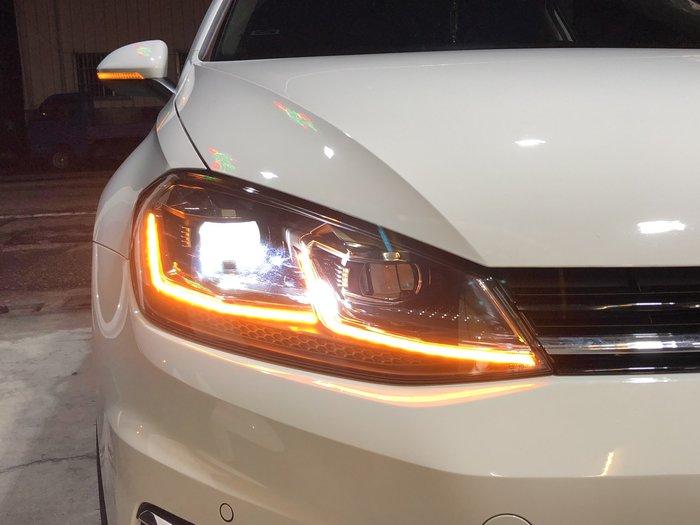 【合豐源 車燈】GOLF 7.5代 LED 魚眼 大燈 頭燈 日行燈 L型 方向燈 17 18 高7.5 遠燈 海拉