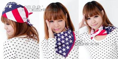 ☆ 喨晶晶雜貨舖☆ 方巾 國旗造型系列 頭巾 領巾