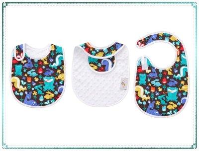 【Q寶寶】美國製 Baby Elephant Ears 愛乾淨圍兜 GRASS MENAGERIE_現貨