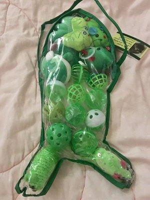 。☆全新☆。貓玩具禮品包//出清//綠