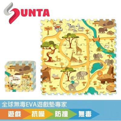 【SUNTA拼接樂扣墊】動物樂園-無毒EVA遊戲墊-32*32*1cm 9片裝(地墊/ 爬行墊/ 滿月/ 送禮) 台北市