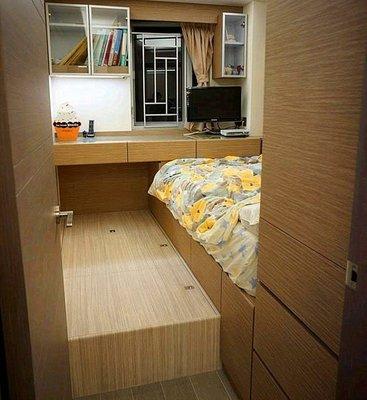 elements-furniture.com 22個色 完全收口,不會有頭髮垃圾掉到牆邊 可加日式搖控電動升降台 訂做地台櫃 地台床