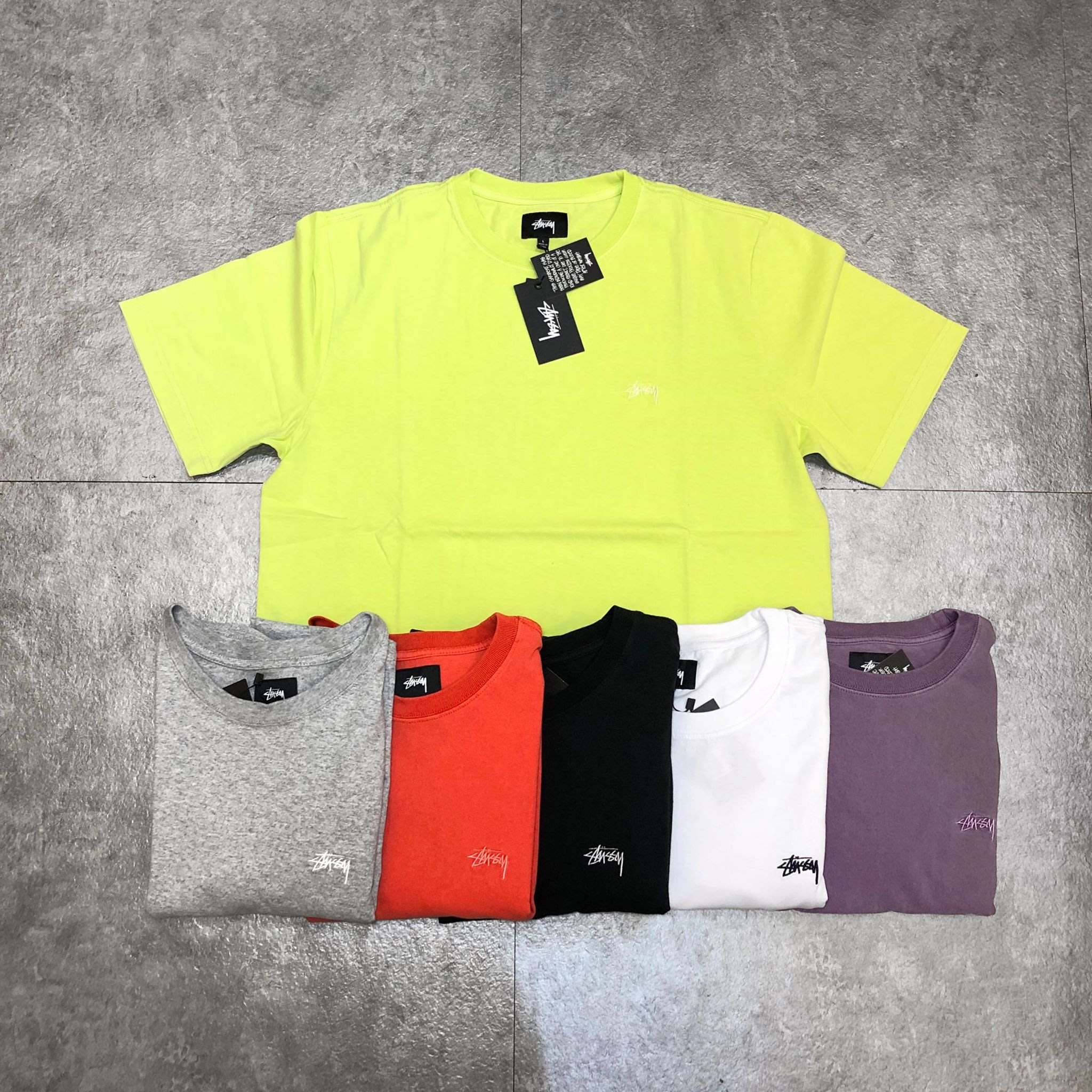 【Faithful】STUSSY STOCK S/SL CREW【1140137】 刺繡短T 6色
