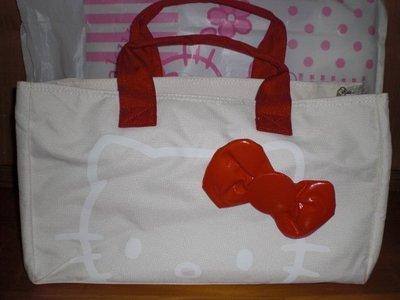 全新 HELLO KITTY 30周年紀念紅色蝴蝶結手提包