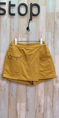 。↑怪貓咪↑。 轉賣non stop貓咪造型口袋芥末黃色短褲裙◎全面特價出清快來挖寶◎
