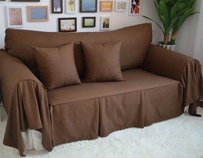 INPHIC-全棉咖啡色布藝沙發巾 沙發套 沙發罩  可訂製
