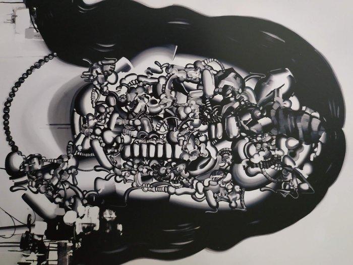 [現貨 版畫 海報] Tomoo Gokita 五木田智央 ATM 2007 無簽名 無限量編號 黑白 kaws 藝術