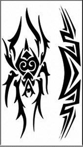【萌古屋】蜘蛛圖騰 - 男女防水紋身貼紙原宿刺青貼紙WM-156