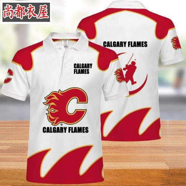 【尚都衣屋】 NHL卡爾加里火焰隊男女polo衫t恤夏季 philadephia