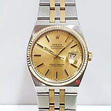 ROLEX勞力士 17013 稀少收藏 石英特殊款 18K半金 品項佳 原廠T柱面盤 錶徑36  大眾當舖 編號9409