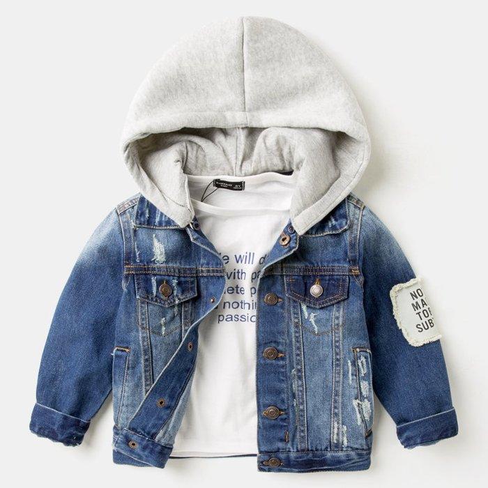 出清童裝。男童裝。韓版牛仔外套 百搭牛仔外套 (牛仔藍) (90-130cm)~nanakids娜娜童櫥
