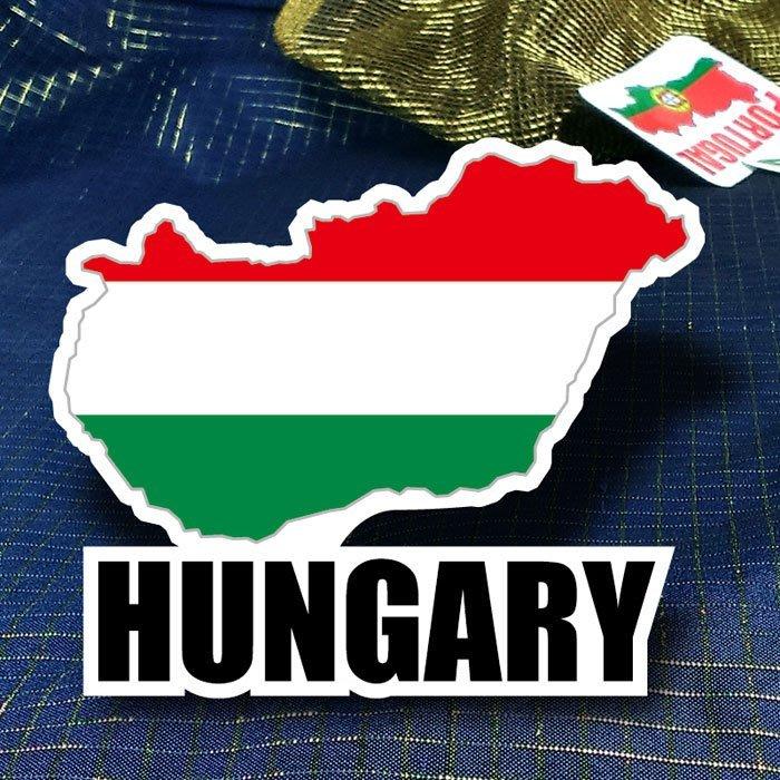 【國旗創意生活館】匈牙利地圖抗UV、防水行李箱貼紙/Hungary/世界各國款可收集、訂製