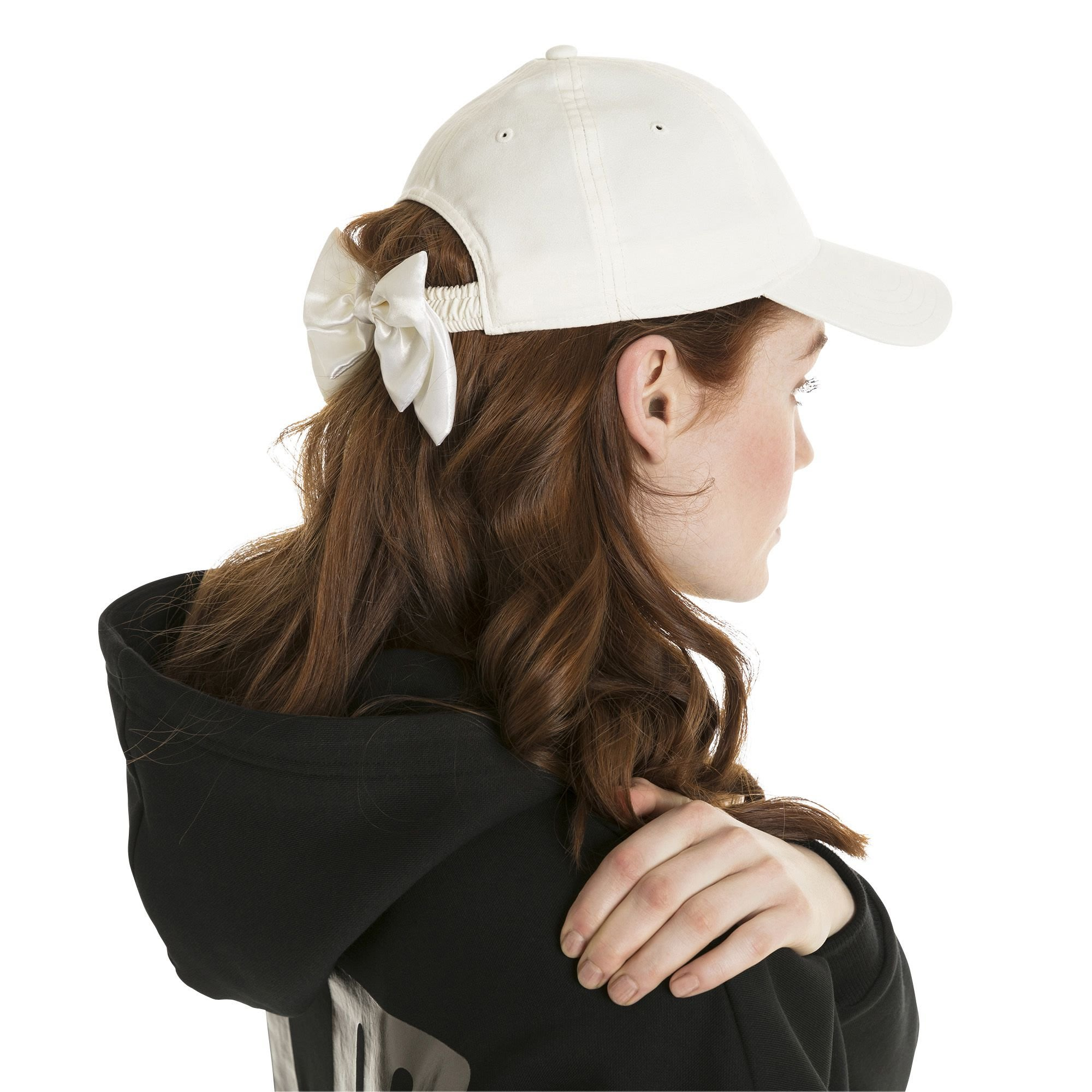 南2018 7月PUMA Bow Hat HEART 愛心緞帶蝴蝶結老帽帽子白色021494-05 ... 74026f54a32