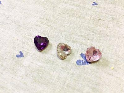 10mm 愛心造型鑽 DIY素材 奶油殼 貼鑽 袖珍小物 飾品材料 (現貨)