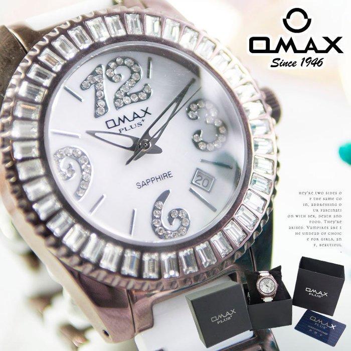 女錶/陶瓷30米防水錶 OMAX 陶瓷 奢華水鑽名媛【含原廠盒/卡】 ☆匠子工坊☆【UQ0098】