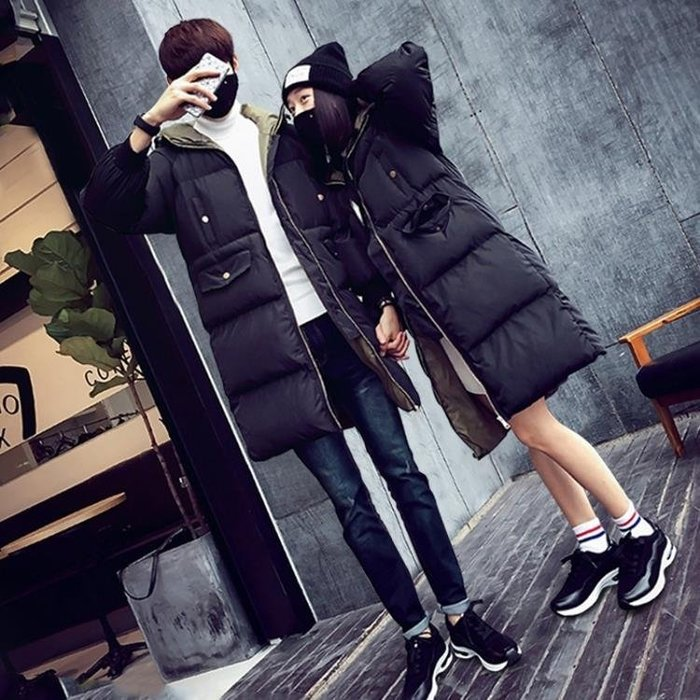 情侶棉衣中長款冬季2018韓版寬鬆學生面包服女棉襖加厚棉服外套男