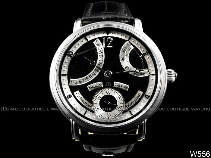 金鐸精品~W556 Maurice Lacroix 艾美 五針日期逆跳儲能顯示 手動上鍊男用腕錶 全新品