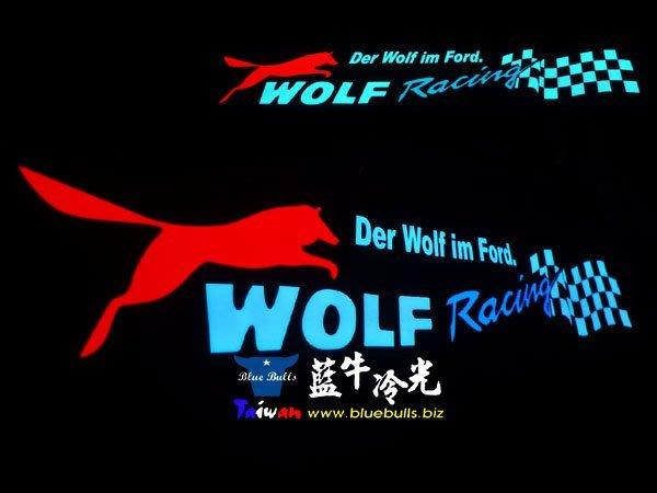 【藍牛冷光】FORD WOLF 式樣冷光貼紙 煞車燈 60CM*10CM 發光圖樣文字皆可加價修改訂做