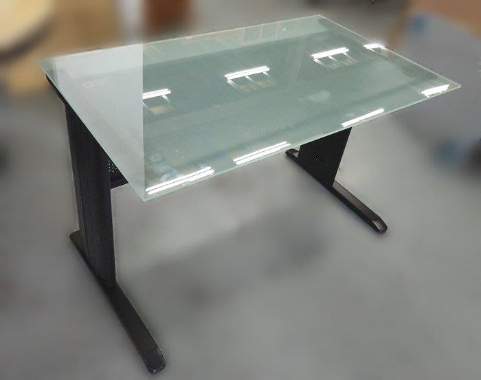 【宏品二手家具館】台中2手傢俱家電拍賣 C12281*玻璃120公分OA桌*辦公椅 辦公設備 辦公桌 各式辦公鐵櫃找宏品