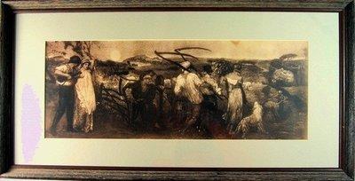 ((天堂鳥)) 西洋古董銅版畫 #134