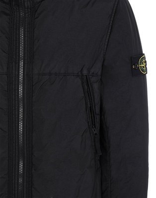 (A.B.E)STONE ISLAND AW19 GARMENT DYED CRINKLE REPS NY PIPING JACKET