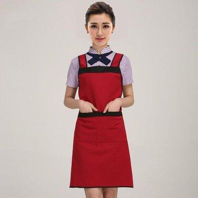 女圍裙印字定制logo純棉韓版時尚可愛廚房做飯餐廳放油防水工作服