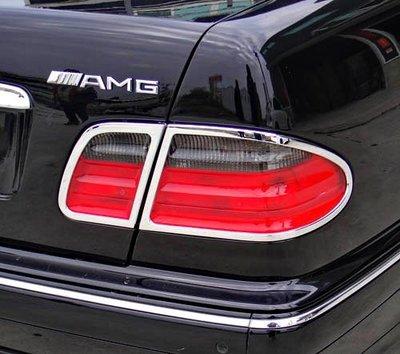 【JR佳睿精品】BENZ E W210 1995-2002 鍍鉻後燈框 尾燈框 電鍍 改裝 配件 台灣製