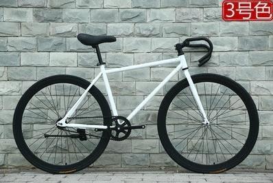 死飛自行車24寸26寸彩色公路倒剎倒騎單車成人男女款式學生車