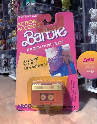 Artlife @ MATTEL 1987 ACTION ACCENTS RADIO DECK 經典絕版 芭比 錄放音機
