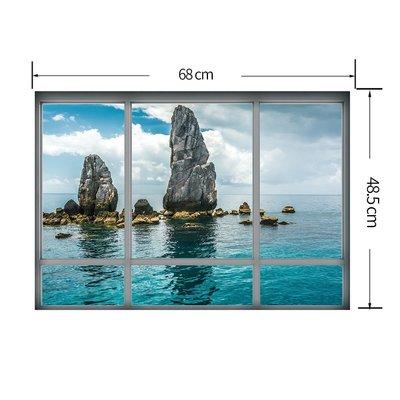 暖暖本舖 泰國島嶼風景 假窗戶 假牆壁...