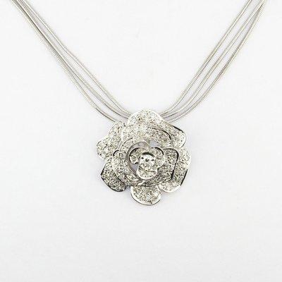 【JHT金宏總珠寶/GIA鑽石專賣】山茶花天然鑽石墜鍊/材質:750(JB47-A35)