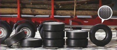 ITALERI 1/24 Trailer Rubber Tyres 拖車用 像真寬車胎 8入 (3890)