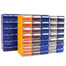 F1 藍*2、灰*2、棕*2、黃*2 ;F5 藍*2、灰*2、棕*2、黃*2...螺絲盒 積木式  零件盒螺絲塑料盒收