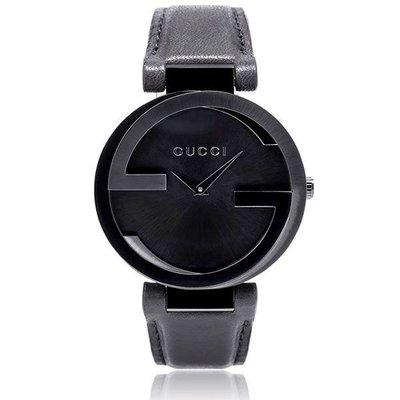 GUCCI YA133302 古馳 手錶 義大利 雙G錶殼 皮帶 對錶 37mm 中尺寸