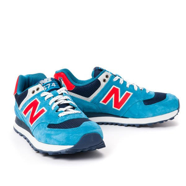運動GO~ NEW BALANCE(nb 574SO) ML574SOG 男用復古休閒鞋 天空藍 麂皮 國外限定鋼印款