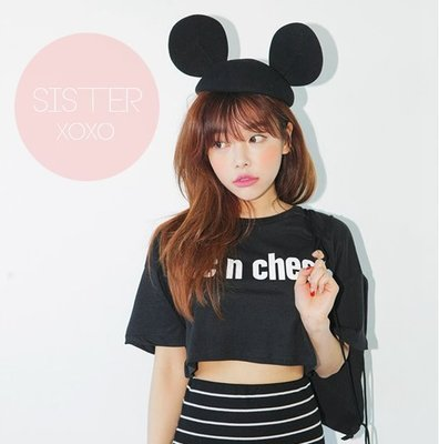 SISTERXOXO KOREA 韓國 派對 米老鼠耳朵帽子可愛米奇 迪士尼貓耳帽 小禮帽 帽子 韓系 正韓 東大門