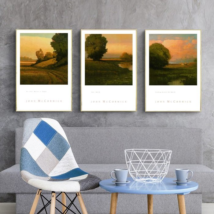 三幅一組油畫布 鄉間景觀風景 畫芯/畫布/30X40☺暖暖屋☺傢居藝術館
