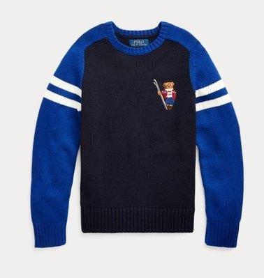 Polo Ralph Lauren polo bear 熊 毛衣 針織 車繡熊 青年款 藍色